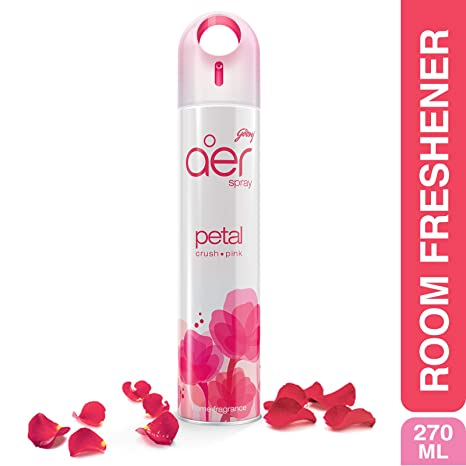 Godrej aer Spray, Home and Office Air Freshener - Petal Crush Pink (270 ml)
