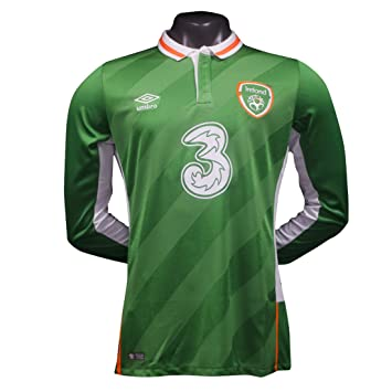 e6b5472c9 FAI Republic of Ireland 2016/17 Home Long Sleeve Soccer Jersey - Adult -  Green