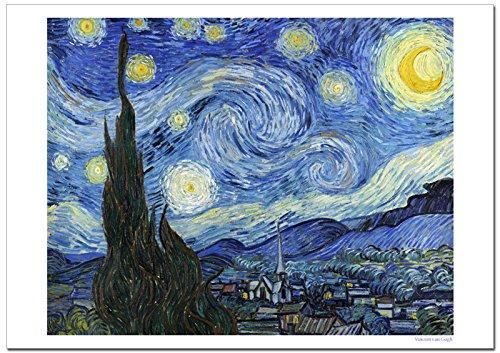 世界の名画 ゴッホ 星月夜 ジークレー技法 高級ポスター (B1/728ミリ×1030ミリ) B01MCZUPP8B1/728ミリ×1030ミリ