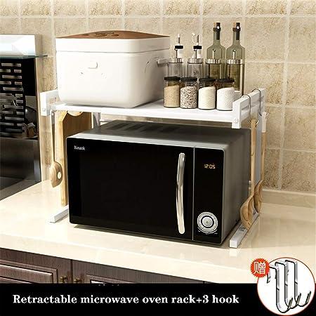 Horno microondas Rejilla de cocina Organizador de ...