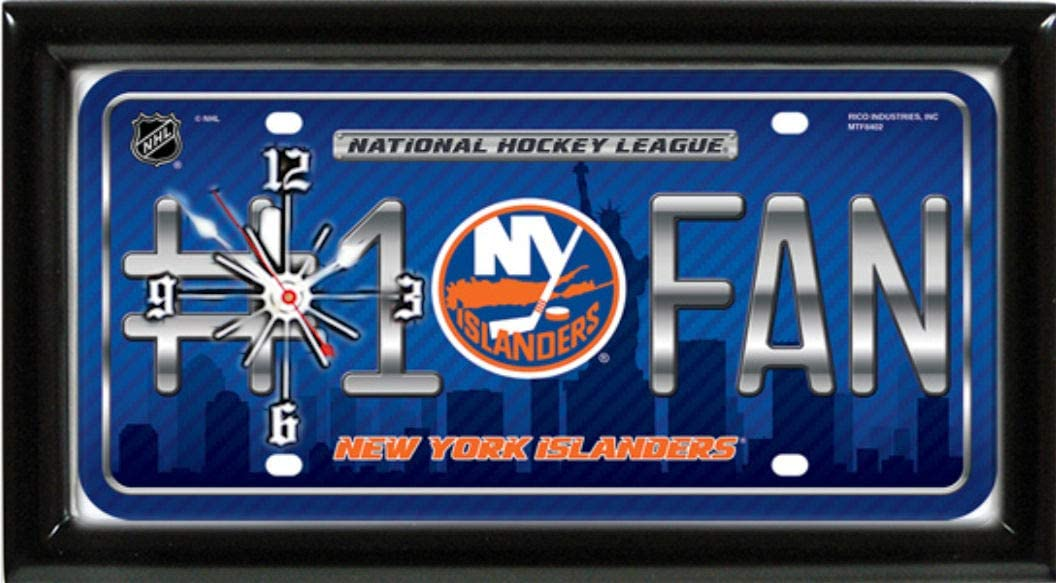 TAGZ SPORTS UNLIMITED Islanders Wall//Desk Clock for Home or Office
