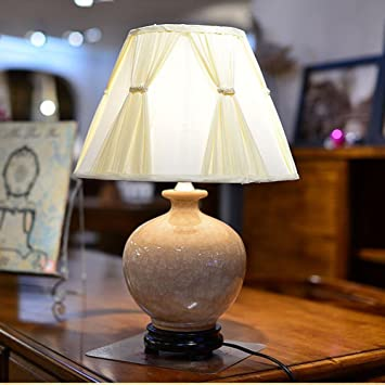 De 35 Cm Lampe Américain Table Wysm Bois Céramique En 550 0P8Onwk