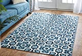 Cheap Mohawk Home Soho Marjorelle Gardens Floral Printed Area Rug,  5'x8′,  Blue
