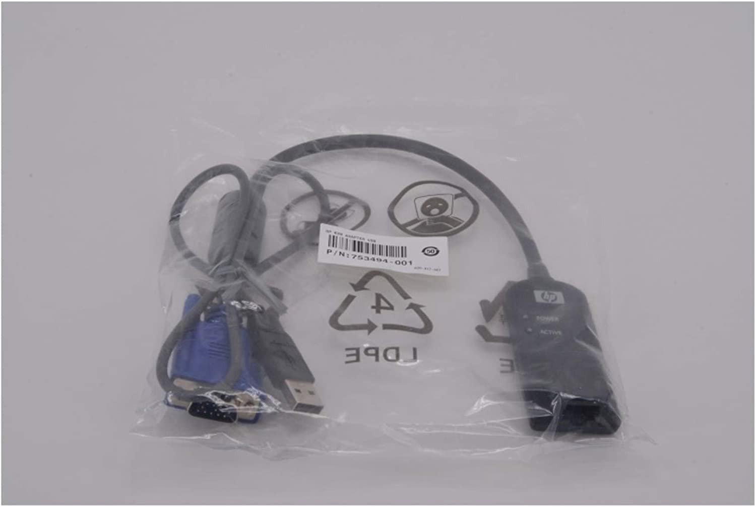 """Hp Kvm Console Usb Interface Adapter . 1 Pack . Usb . Keyboard/Mouse, Video """"Product Type: Hardware Connectivity/Connector Adapters"""""""
