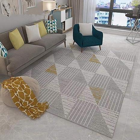 JANRON Carpet Alfombra Sencilla Estilo nórdico, para salón