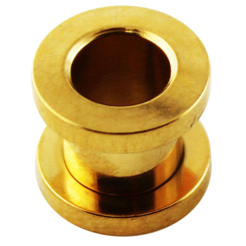 14MM Gold Anodized Surgical Steel Fit Ear Flesh Tunnel Body jewelry