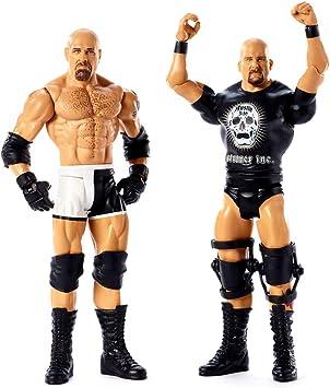 WWE - Pack de 2 figuras de acción luchadores Goldberg vs Stone con accesorios de lucha Juguetes niños +6 años (Mattel GBN62): Amazon.es: Juguetes y juegos