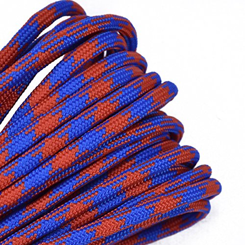 Bored Paracord - 1', 10', 25', 50', 100' Hanks & 250', 1000' Spools of Parachute 550 Cord Type III 7 Strand Paracord Well Over 300 Colors - Mets - 25 Feet]()