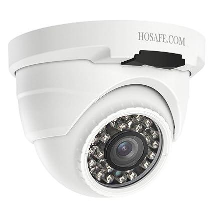 HOSAFE POE Camera Outdoor 1080P con audio, cámara de vigilancia de seguridad para el hogar
