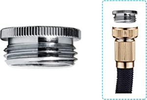 Garden Hose Adapter for Female G1/2 to Male 3/4'' GHTM Chrome, 1-Pack
