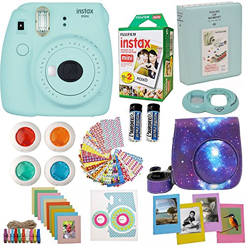 Fujifilm Instax Mini 9 Camera Ice Blue + Accessories kit for Fujifilm...