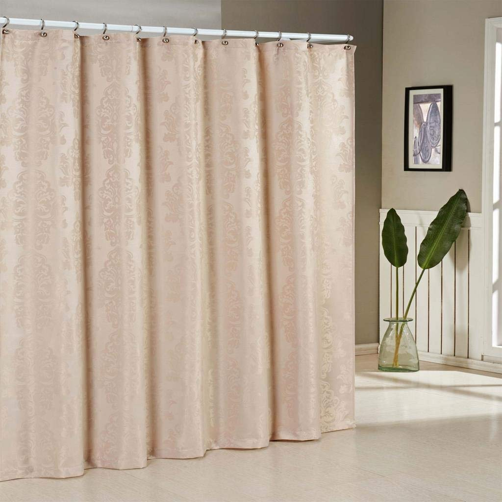 70 X 72 Inch - White Water Repellent /& Antibacterial Assorted Colors - Parson Medallion Linen Textured Mildew Resistant Fabric Shower Curtain Liner For Bathroom Waterproof Duck River Textiles