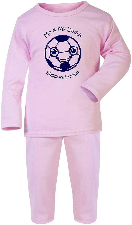 Hat-Trick Designs Bolton Wanderers Football Baby Pyjamas set PJs Nightwear//Sleepwear-Me /& My-Unisex Gift
