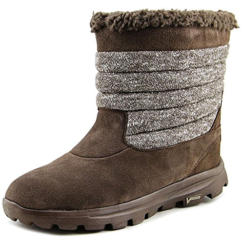 Skechers Go-Weg Move-Nachleuchten Round Toe Suede Brown Winterstiefel Chocolate