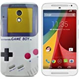 gada - Handyhülle für Motorola Moto G2 Schutzhülle Case Bumper Cover Etui TPU Gel Case Game Boy retro