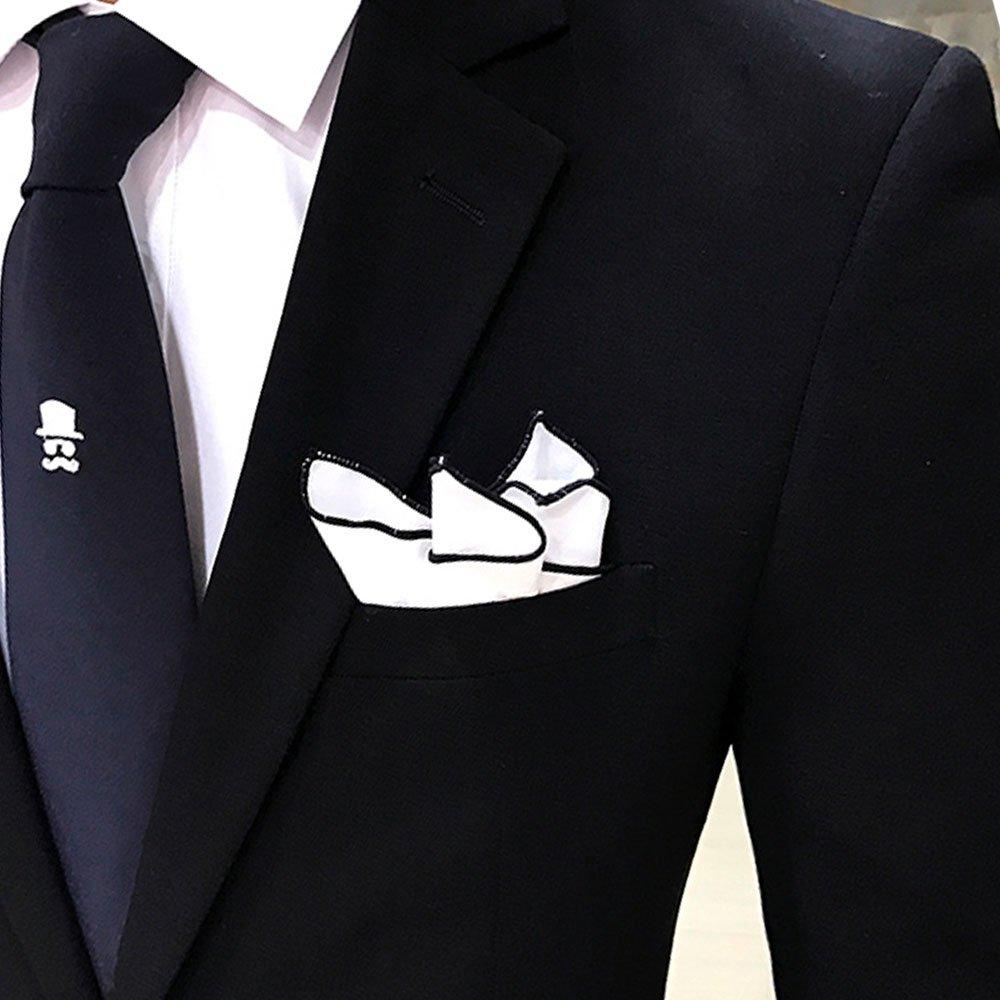 Niaona-men Solid 2 Piece One Button Suit Blazer Jacket Tux Vest /& Trousers
