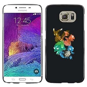 // PHONE CASE GIFT // Duro Estuche protector PC Cáscara Plástico Carcasa Funda Hard Protective Case for Samsung Galaxy S6 / Pekemen Colores /