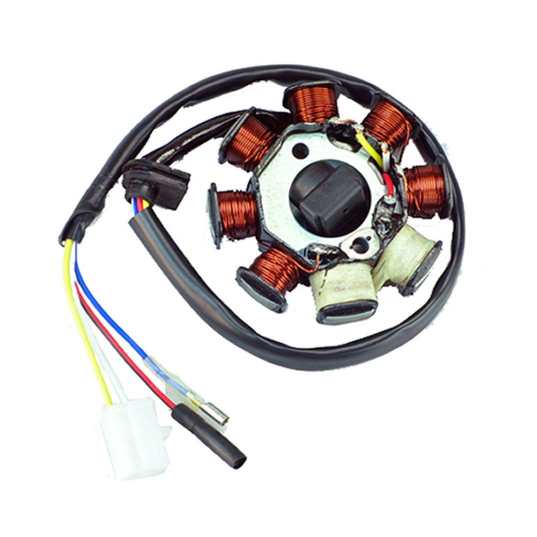 Amazon.com: New Alternator Magneto Stator 8 coil 8 Pole 4-wire Gy6 50cc AC  ATV Scooter: Sports & Outdoors