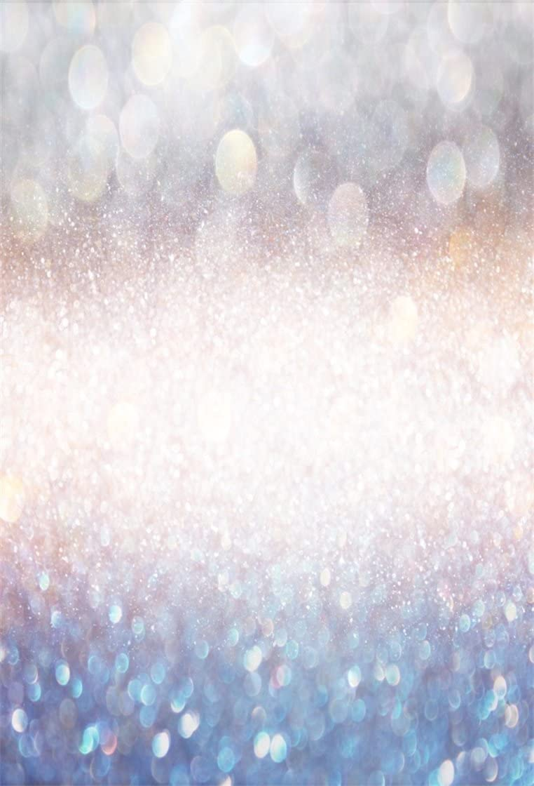 AOFOTO 5x7ft Dreamy Sequin Photography Studio Backdrop Bokeh Glitter Spot Background Baby Shower Kid Girl Toddler Infant Artistic Portrait Party Decoration Photoshoot Props Video Wallpaper Drape