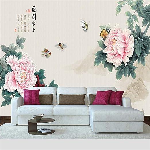Papel Pintado Fotomural Floración Mural de seda Fondo de ...