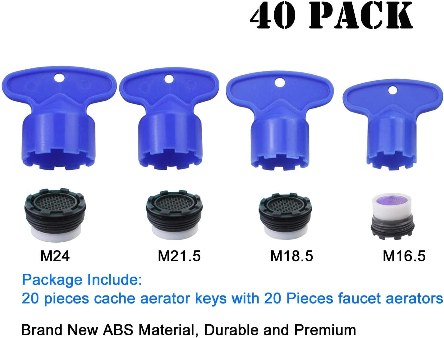 Pack of 5 4 Set Removal Wrench Tool for M 16.5 18.5 22.5 24 Cache aerators Cache Faucet Aerator Key