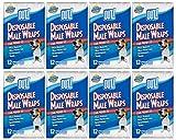 OUT! 12 Count Disposable Male Wraps, Medium - 8 Packs! (Medium)