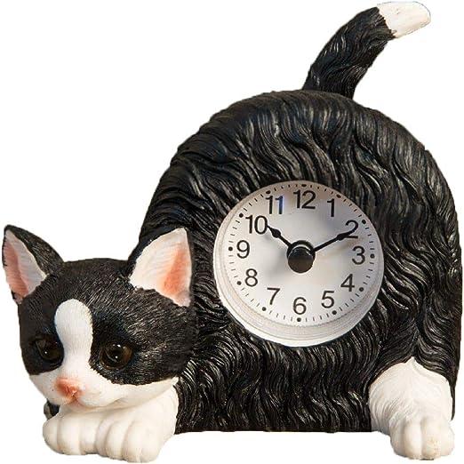 Best of Breed - Reloj de Mesa con Estante de Escritorio de Gato en ...
