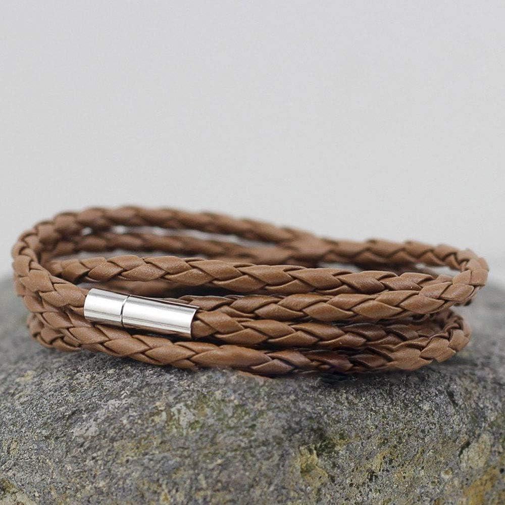 TXErfolg 30 Tapas de Extremo de Cord/ón para Fabricaci/ón de Joyas para Collar de Cuero Pulsera Cord/ón con Un Di/ámetro de 4 mm