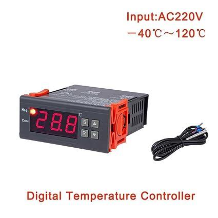 Topker MH1210A AC220V Termostato Digital Inteligente Electrónico de Control de Temperatura Tabla Refrigeración Controlador de Calefacción