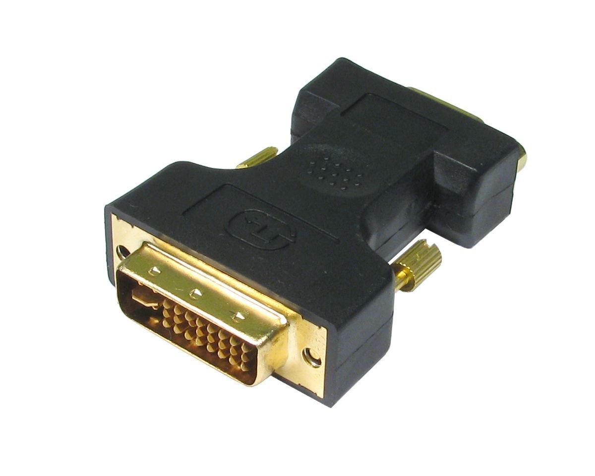 DVI femelle vers VGA m/àle - plaqu/é or 24 ct