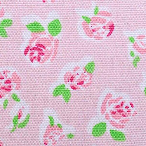 OUFLY Niñas Rosa Rosa Floral Mochila Impresión Lona Ligera Rucks Rosa rosada
