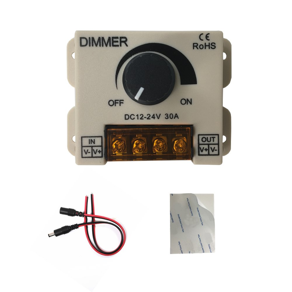 Hualand Pwm 12v 24v 30a 720w Led Dimmer Controller For Single Color Strip Lighting Lamp