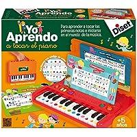 Diset - 63.745, Imparo a suonare il pianoforte, Tastierina portatile con spartiti per i bimbi che si approcciano allo studio del pianoforte, funzione di registrazione [canzoncine spagnole]