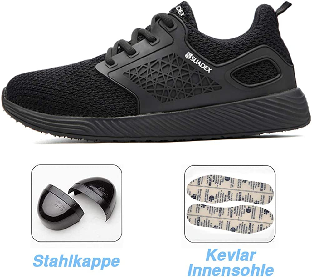 Safety Shoes for Men Steel Toe Trainers Lightweight Work Shoes Women Breathable Industrial Sneakers