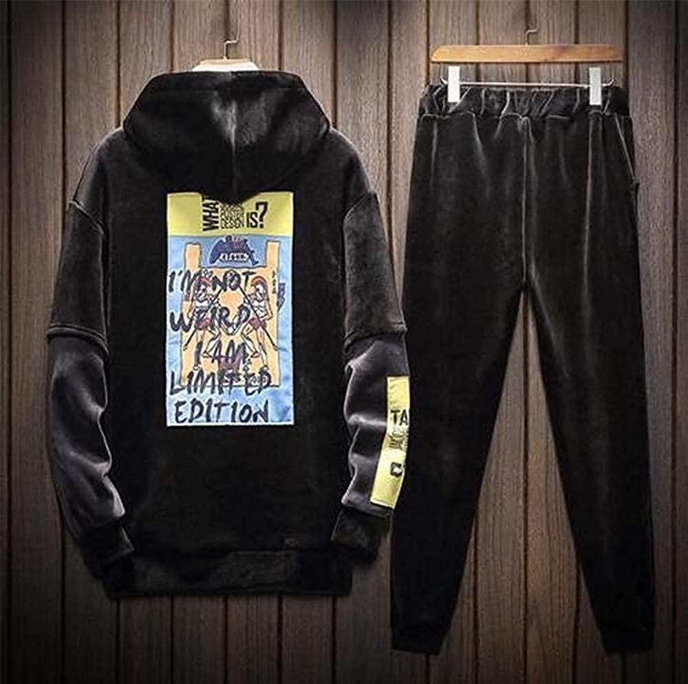 - duduxiaomaibu Mens Tracksuit Long Sleeve Running Jogging Sports Jacket Pants