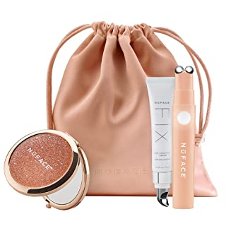 NuFACE FIX Line Smoothing Device, Limited Edition Shimmer All Night Collection, Mascara-sized Skin Care Device to Firm, Smooth, and Tighten, FIX Line Smoothing Facial Serum Included