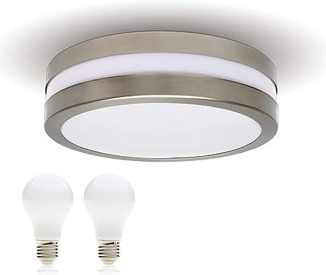 Led Plafondlamp Badkamerlamp Buitenlamp Provance E27 230v Ip44 Incl 2x Led 10w Warmwitte Led Lamp Wandlamp Wandspot Woonkamer Lamp Voor Badkamer Keuken Badkamer Lamp Badkamer Lamp Amazon Nl