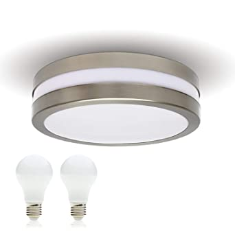 LED Decken-leuchte Bad-Lampe Aussen-Leuchte PROVANCE E27 230V IP44 inkl. 2x  LED 10W Warmweiss LED Lampe Wandleuchte Wandstrahler Leuchte ...