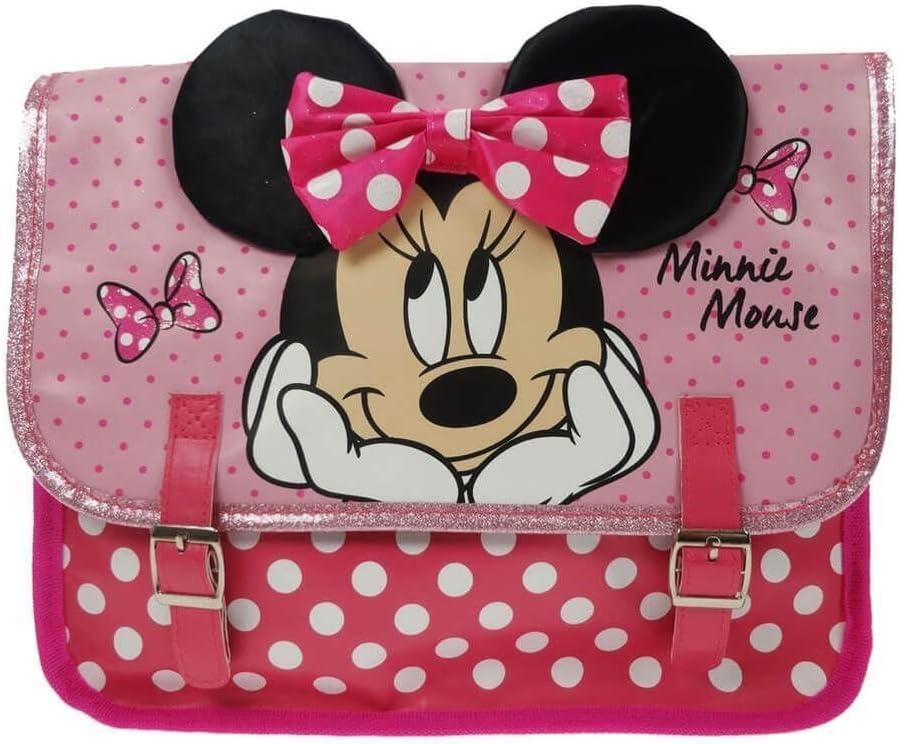Disney Minnie Mouse Cartable Rose//Multicolore