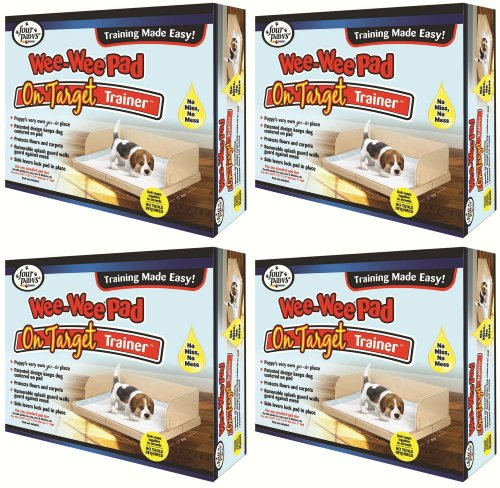 Four Paws Wee Wee On-Target Trainer Pad Holder 22 inch x 23 inch 4pk
