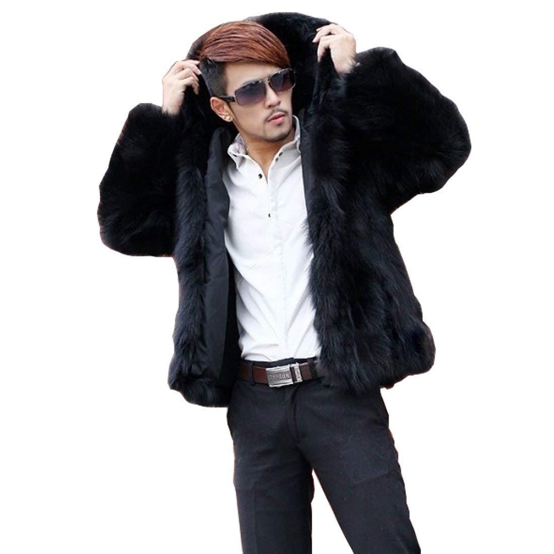 Targogo Giacca In Pelliccia Da Uomo Cappotto In In Pelliccia Pelliccia  Giacca In Cappotto Vintage Sintetica 5898b1f37be