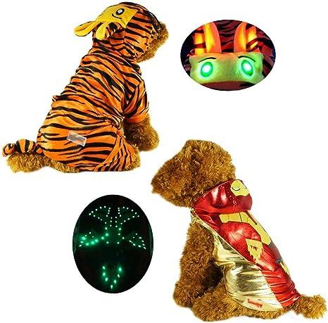 pawow LED luz hasta el tigre disfraz de perro cachorro mascota ...