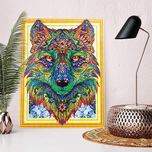 Denzar DIY 5D Diamond Painting Kits for Adults Kids-Partial Drill Crystal Rhinestone Embroidery Paintings for Home Wall Decor,Cross Stitch Kits Paintings Craft-Animal Pattern 40x50cm ()