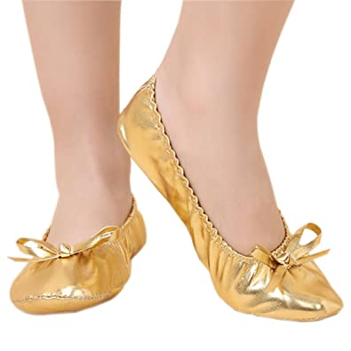 Amazon.com: BOZEVON Children Girls Ladies Leather Ballet Dance Shoes Yoga Shoes: Shoes