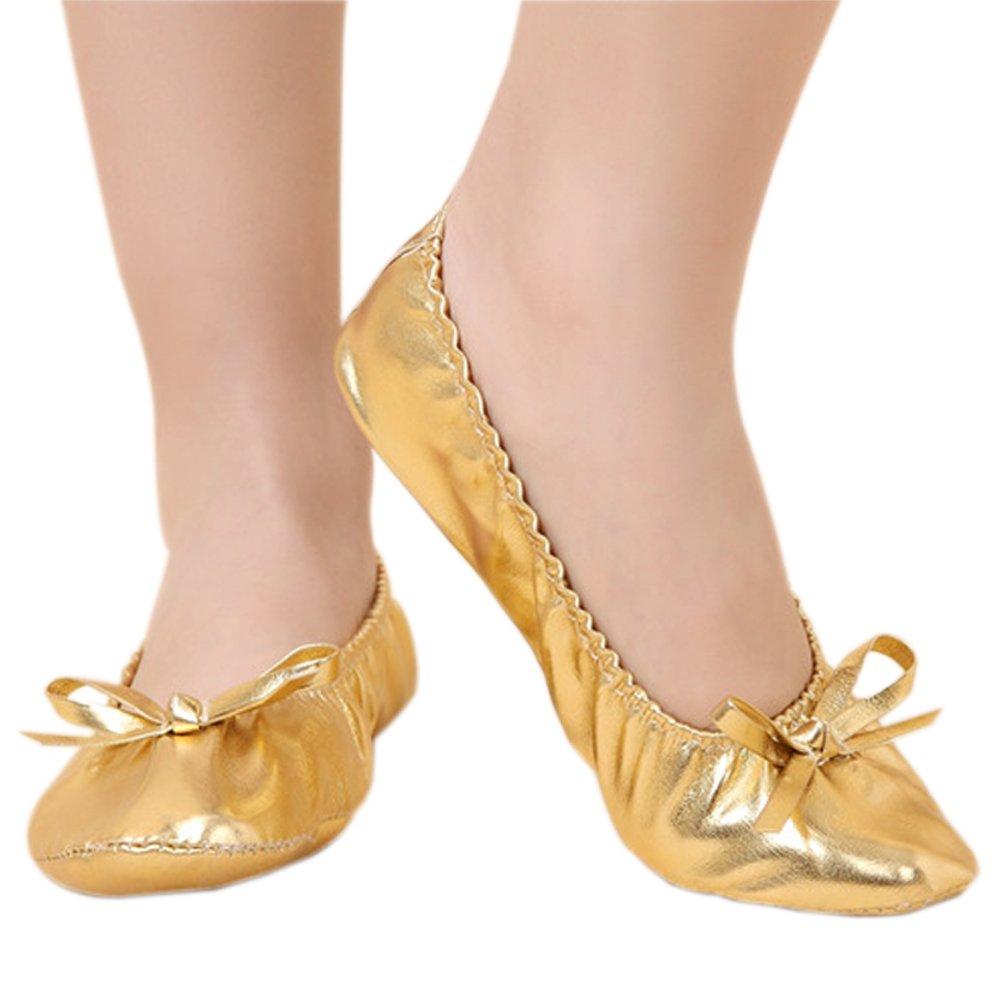 Amazon.com: KINDOYO Girls Women Ballet Leather Dance Shoes ...