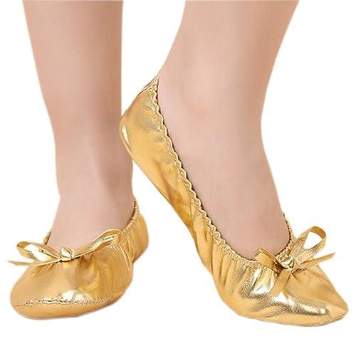 BOZEVON Zapatillas de Baile de Niña, Mujer, Ballet Clásico, Antideslizante, Zapatos de Baile de Yoga Pilates: Amazon.es: Zapatos y complementos