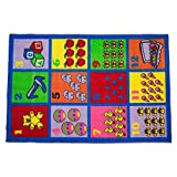 J&M Home Fashions Playmat Play Rug Educational Area Rug for Kids, Babt, Toddler, 40x60, Perfect Carpet for Children Bedroom, Playroom, Nursery room, and Game room-Numbers