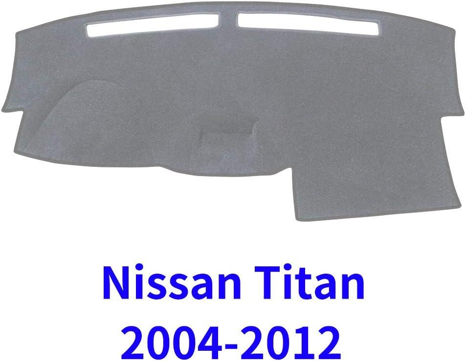 JIAKANUO Auto Car Dashboard Carpet Dash Board Cover Mat Fit for Nissan Titan 2004 2005 2006 2007 2008 2009 2010 2011 2012 MR-030 Black