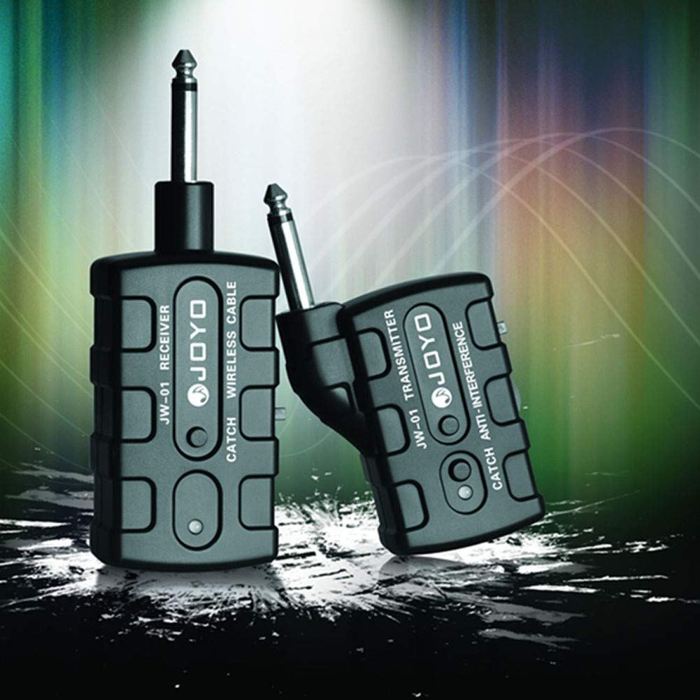 Leoie Digital Pro Guitar Bass Wireless Rechargeable 2.4Ghz Audio Transmitter Receiver Kit US Plug by Leoie (Image #2)