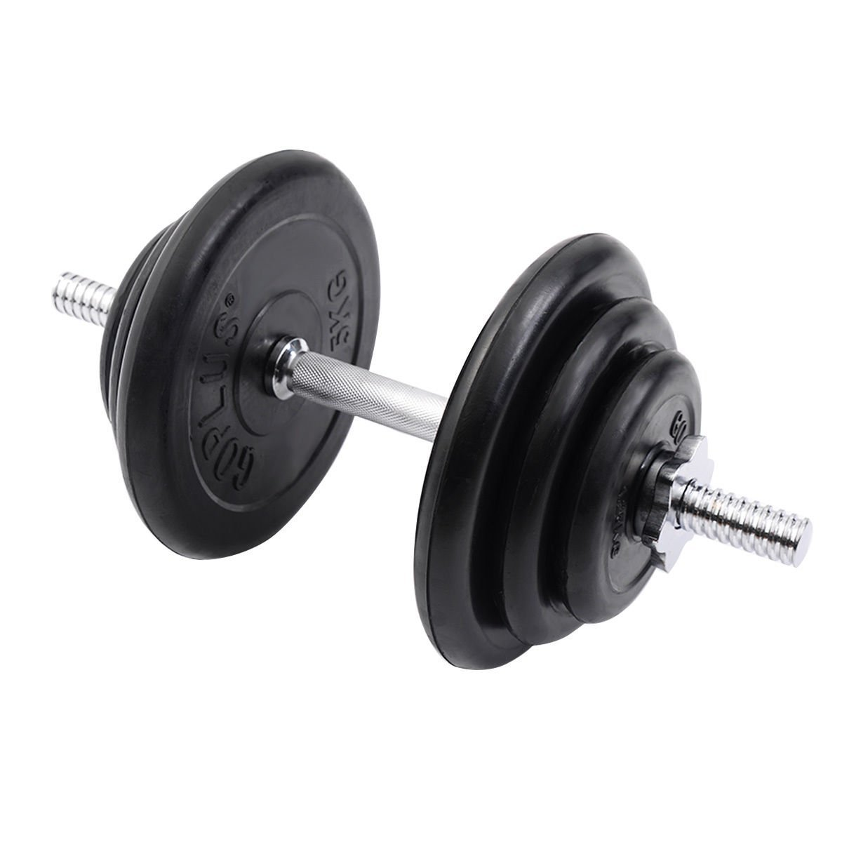 Giantex Weight Dumbbell Set 44 Lb Adjustable Cap Gym Barbell Plates Body Workout